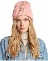 64251c1bd E Guilia Embellished Beanie - Pink