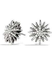 David Yurman - Starburst Small Earrings With Diamonds - Lyst