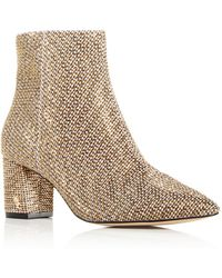 Kurt Geiger Women's Burlington Block Heel Booties - Natural