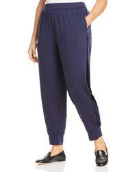 Eileen Fisher Velvet Stripe Jogger Trousers - Blue