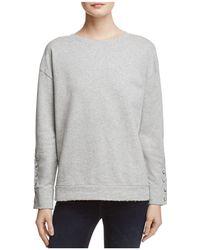 Joe's Jeans - Miaya Lace-up Sleeve Sweatshirt - Lyst