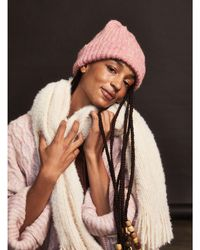 Free People Lullaby Ribbed Beanie - Pink