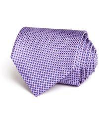 Bloomingdale's Micro Harlequin Classic Tie - Purple