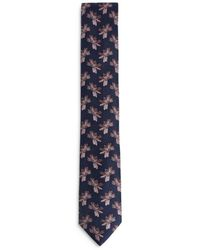 Ted Baker Jacquard Floral Silk Skinny Tie - Blue