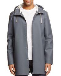 Stutterheim Stockholm Hooded Rain Coat - Grey