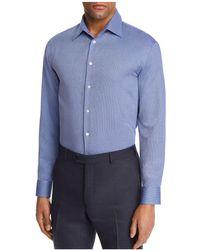 Emporio Armani - Tonal Cross Stitch Regular Fit Button-down Shirt - Lyst