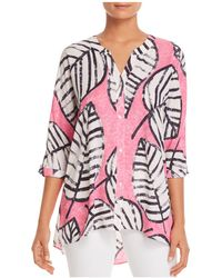 NIC+ZOE - Nic+zoe Etched Leaves Top - Lyst