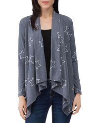 B Collection By Bobeau Amie French Terry Cardigan - Blue