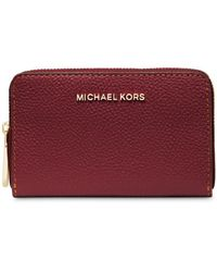 MICHAEL Michael Kors Jet Set Leather Card Case - Red