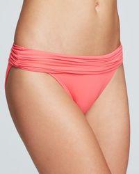 Carmen Marc Valvo - Shirred Banded Bikini Bottom - Lyst