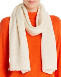 C By Bloomingdale's Waffle - Knit Cashmere Scarf - White