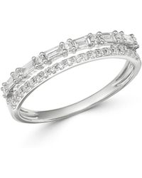 Bloomingdale's Diamond Double - Row Band In 14k White Gold