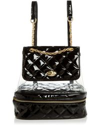 Aqua Clear Quilted Backpack - Black
