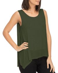 B Collection By Bobeau - Faith Asymmetric Layered Tank - Lyst