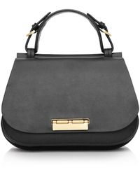 Zac Zac Posen Chantalle Leather Mini Saddle Satchel - Black