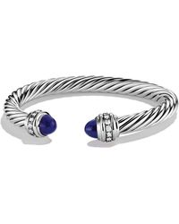 David Yurman | Cable Classics Bracelet With Lapis Lazuli & Diamonds | Lyst