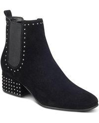 Marc Fisher - Women's Tango Studded Suede Block Heel Booties - Lyst