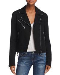 Rag & Bone - Bowery Lace-up Denim Moto Jacket - Lyst