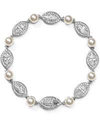 Nadri - Simulated Pearl Bracelet - Lyst