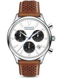 Movado Heritage Calendoplan Chronograph - Brown