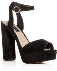 Aqua Women's Mardi High - Heel Platform Sandals - Black