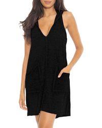 Becca Beach Date Hooded Cover - Up Dress - Black