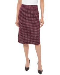 Misook Tweed Pencil Skirt - Multicolor