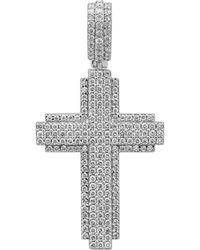 Bloomingdale's Diamond Cross Pendant In 14k White Gold