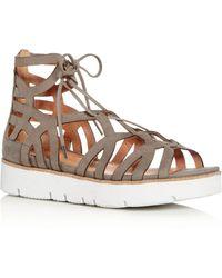 Gentle Souls - Women's Larina Nubuck Leather Gladiator Platform Sandals - Lyst