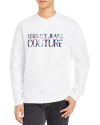 Versace Jeans Couture Holographic Logo Sweatshirt - White