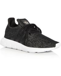 buy popular 81a7c c6107 Women's Swift Run Knit Lace Up Trainers - Black