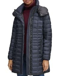 Marc New York - Marble Packable Hooded Puffer Coat - Lyst