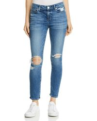 PAIGE - Verdugo Ankle Skinny Jeans In Embarcadero Destructed - Lyst