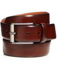 Trafalgar Men's Matteo French Calf Leather Belt - Brown