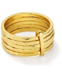 Argento Vivo Stacked - Effect Ring In 18k Gold - Plated Sterling Silver - Metallic