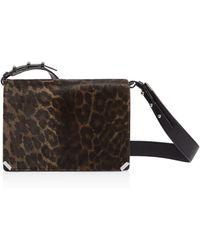 AllSaints - Vincent Medium Leopard-print Calf Hair Shoulder Bag - Lyst