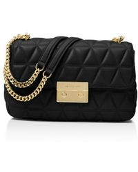19dade2c16274a MICHAEL Michael Kors - Michael Chain Large Leather Shoulder Bag - Lyst