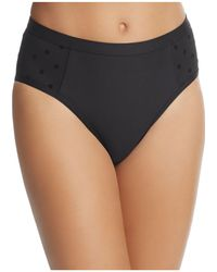 Ella Moss - Sheer Dot High Waist Bikini Bottom - Lyst