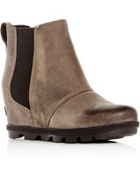 Sorel - Women's Joan Of Arctic Waterproof Hidden Wedge Booties - Lyst