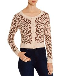 Kate Spade Leopard Print Cropped Cardigan - Multicolour