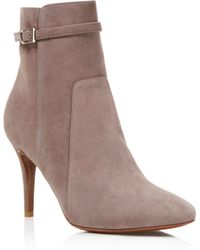Charles David - Prism Suede High Heel Booties - Lyst