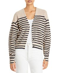 Rag & Bone Ann Striped Cotton Cashmere Cardigan Relaxed Fit Sweater - Multicolor