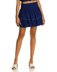Ramy Brook Embellished Ruffled Mini Skirt - Blue