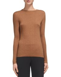Whistles - Zip-cuff Ribbed-detail Sweater - Lyst