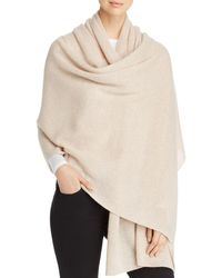 C By Bloomingdale's Cashmere Travel Wrap - Natural