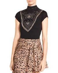 Haute Hippie - Through The Looking Glass Embellished Bodysuit - Lyst