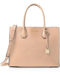 bd0a933f9656 MICHAEL Michael Kors - Studio Mercer Convertible Large Leather Tote - Lyst