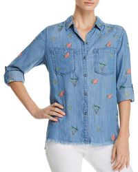 Billy T - Lace-up Embroidered Shirt - Lyst