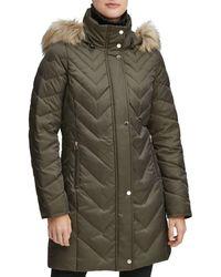 Marc New York Roxbury Matte Satin Puffer Coat - Green