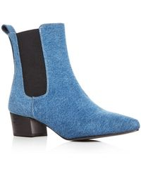 Archive - Women's Mercer Denim Pointed Toe Chelsea Booties - Lyst
